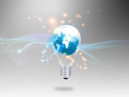 glowing light bulb: Bulb