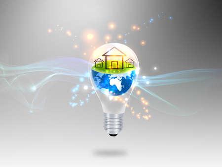 energy savings: house in Bulb