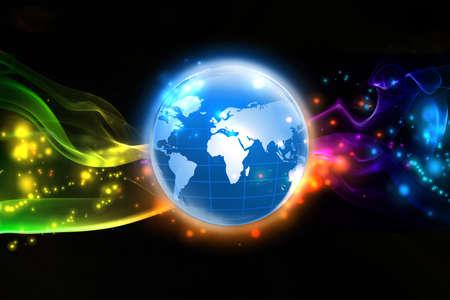 world globes: World of colorful