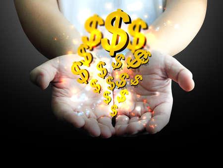 businessman holding US dollar