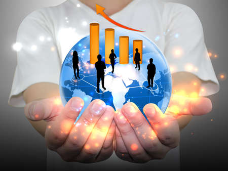business people team in his hand Stock Photo - 11120505