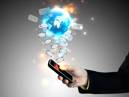 Touch screen mobile phone Stock Photo - 11566449