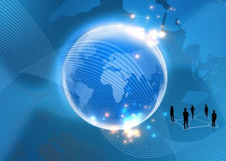 technologie: Concept d'affaires de global Banque d'images
