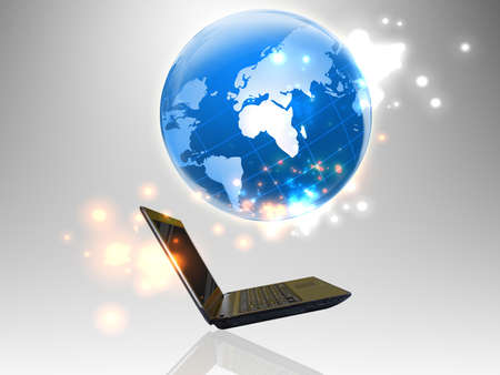 Laptop technology background Stock Photo - 11916860