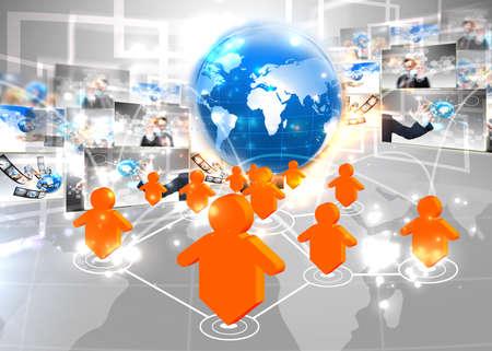 sociologia: Conexión de red social