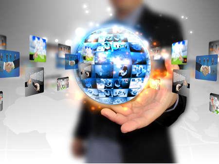 전세계에: 손을 잡고 비즈니스 세계 스톡 사진