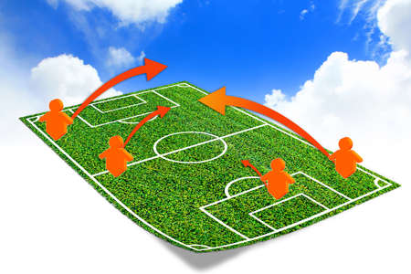 soccer coach: tactic on the soccer field