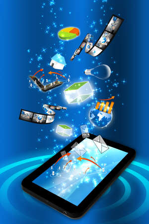 touch pad: Smart phone with many idea