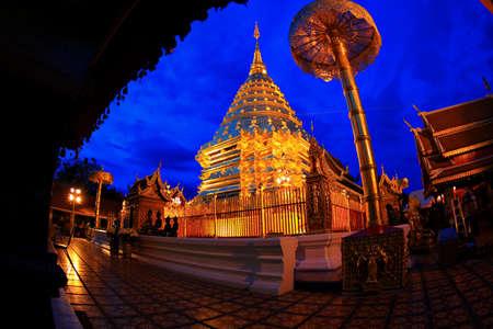 thai believe: Doi Suthep Chiang Mai, Thailand  Stock Photo