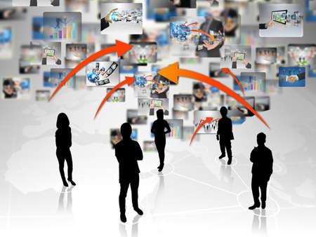 linked hands: business teamwork