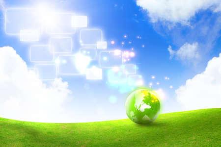 Grön energi koncept Stockfoto
