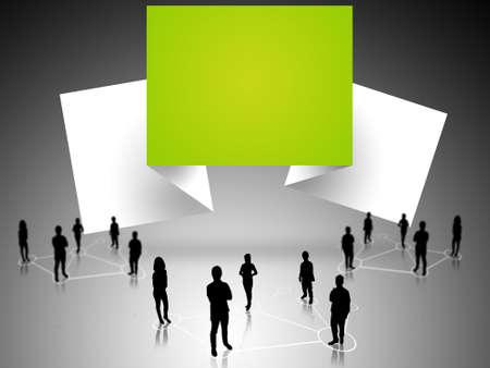 manos unidas: negocio de trabajo en equipo con el papel del origami banderas de diseño