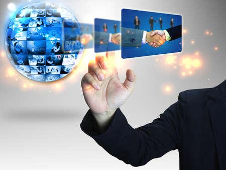 pressing: Businessman pressing Successful business