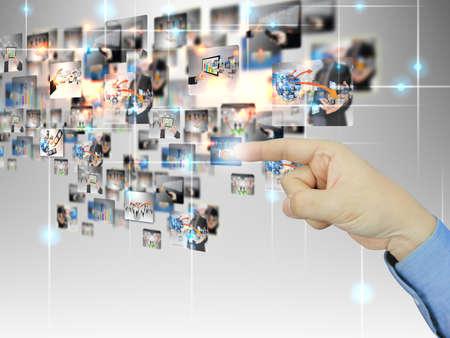 mobile website: businessman press Successful business