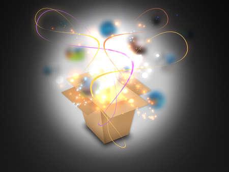 Glowing Magic box Archivio Fotografico