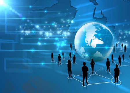 economie: business team met de wereld