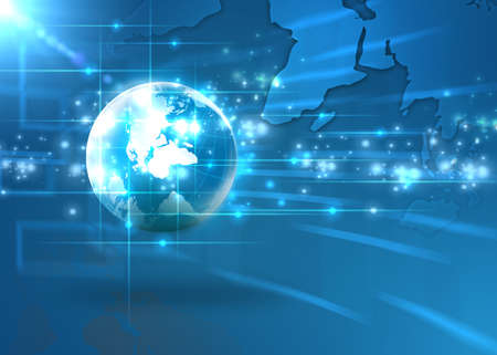 digital globe: Internet Concept of global