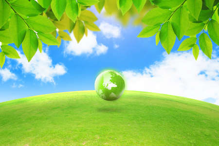 earth friendly: Green energy concept