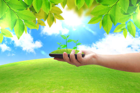 earth friendly: Green energy concept  Stock Photo