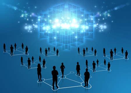 trabajo social: Equipo de negocios