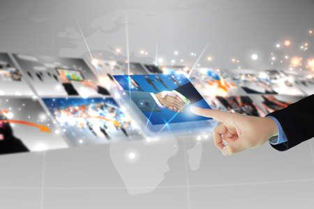 réseautage: affaires sélectionner entreprise réussie Banque d'images