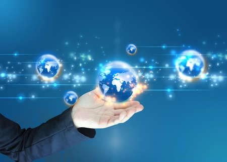 negocios internacionales: mundo empresario de la celebraci?n, conectado Foto de archivo