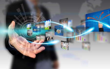 m�dia: Business Collection explora��o de m�o