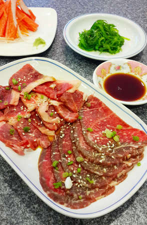 Freshness Japanese meat photo