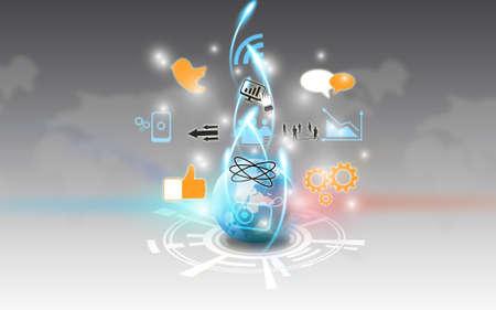 kommunikation: Social Media, Social Network-Konzept