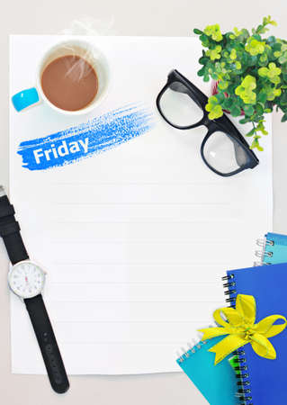 open diary: diary set for week ,modern design background