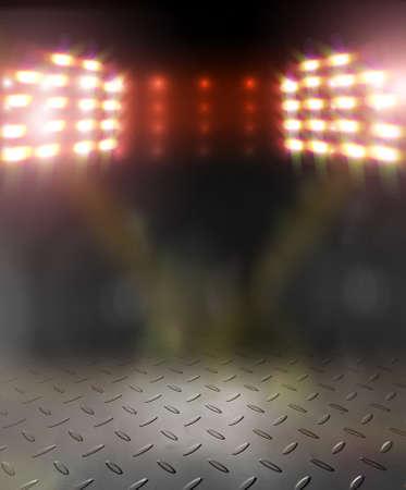 hellen Scheinwerfer auf der Bühne