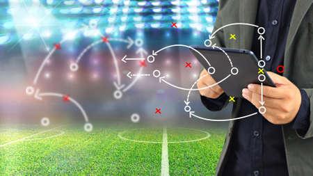 Fußball-Manager Plan Taktik.