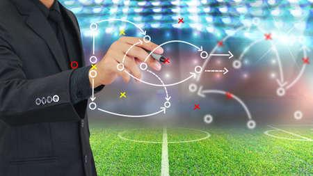 offense: Football manager plan tactics.