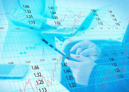 stock exchange chart  photo