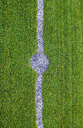 Soccer field with artificial grass  photo
