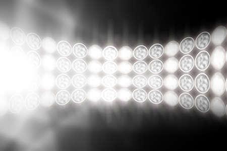 stadium lights: Floodlights.  Stock Photo