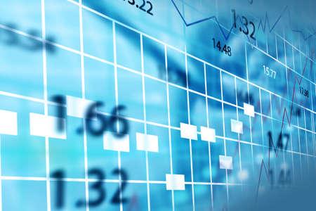 stock chart: Stock exchange chart.