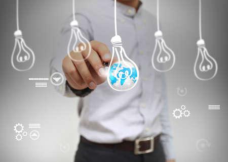businessman create ideas.