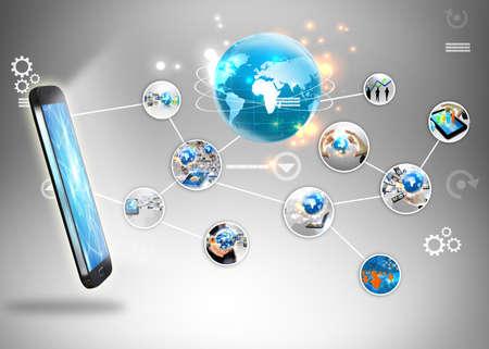 Social concept médiatique. Banque d'images - 31428403