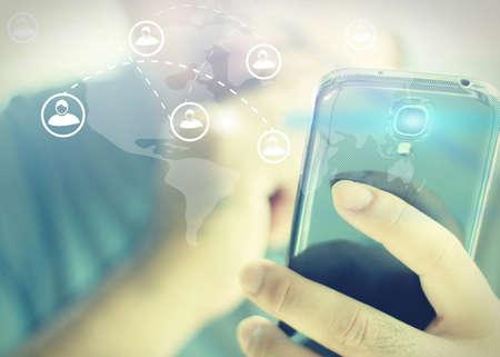 viral: Social media,social network concept.