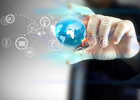 web marketing: Social media,social network concept. Stock Photo