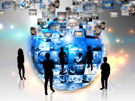 グローバル ビジネスの接続 写真素材