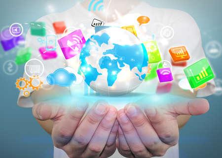 network marketing: Social media concept.