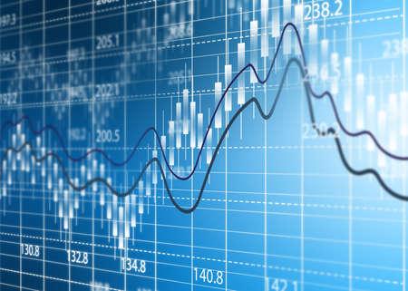 markets: Stock exchange chart,Business analysis diagram. Stock Photo