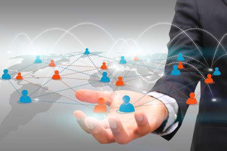 Social network concept. photo