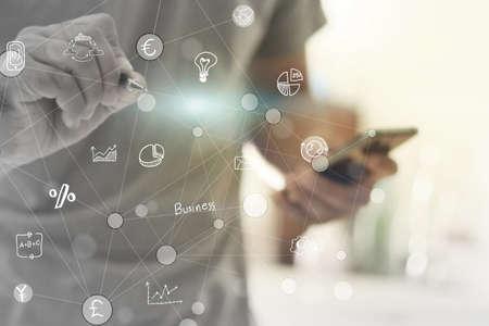 réseautage: concept d'entreprise de la mondialisation.