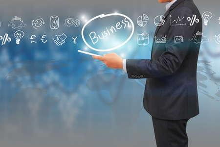 businees: Globalization business concept.