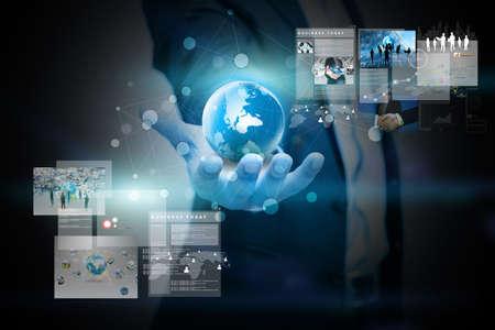 businessman holding virtual screen.business concept Banque d'images