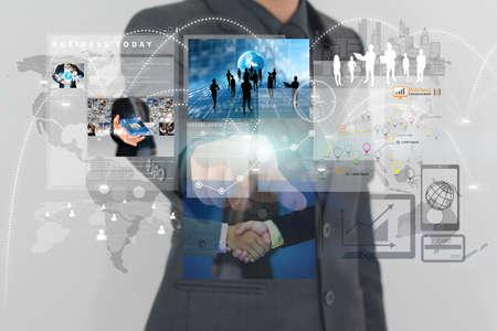 가상 screen.business 개념, 기술, 관리 작업 사업가