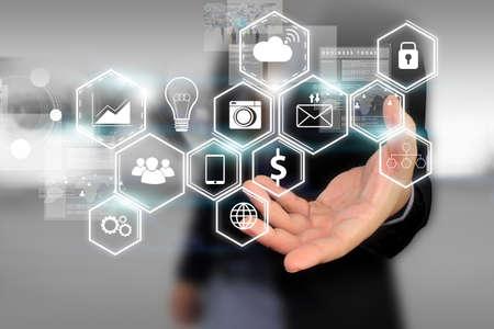 유행: 소셜 미디어, 소셜 네트워크 개념입니다.